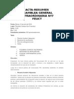 Acta Asamblea General Extraordinaria Nº7