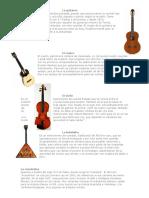 5 Instrumentos Con Su Imagen