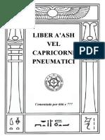 370 - Liber a'Ash Vel Capricorni Pneumatici Sub Figurâ Ccclxx