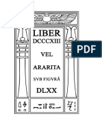 813 - Liber Dcccxiii Vel Ararita Sub Figurâ Dlxx