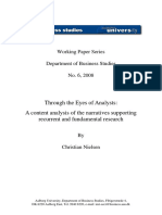 Content Analysis of Analysts Reports of Company Annual Reports
