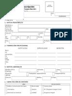 Ficha de Inscripcion Para Cursos-programas