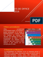 Novedades de Office 2016