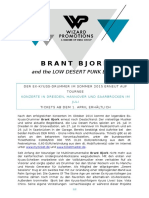 01.04.15 Brant Bjork and the Low Desert Punk Band Tour 2015 Pressetext