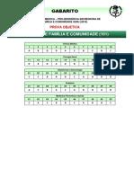 GABARITO - OBJETIVA UERJ 2015 - Medicina de Família e Comunidade