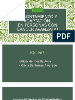 AFRONTAMIENTO Y ADAPTACIÓN - PERSONAS CON CÁNCER AVANZADO
