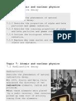 Topic 7 2 Radioactive Decay