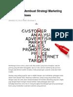 8 Langkah Membuat Strategi Marketing Promosi Sukses