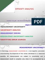 Uncertainty Analysis
