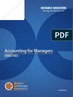 Dmgt403 Accounting for Managers