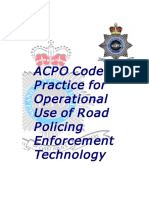 ACPO Traffic Enforcement Guidelines - RPET Code of Practice Nov 04