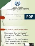 La experiencia de acción en la Economía Informal :CASO PERU