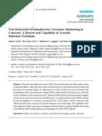 Non-Destructive Evaluation for Corrosion Monitoring