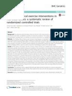 Paper Efectos de La Intervención de Ejercicio Fisico en Adultos Mayores