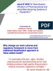 ASTM E 2500 Standard for Pharma and Biopharma Manufacturing