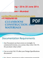 Cleanroom Construction and Materials