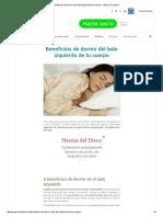 Beneficios de Dormir Del Lado Izquierdo de Tu Cuerpo - Mejor Con Salud