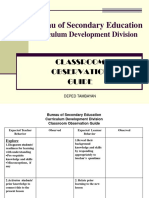 Bse Class Observation Guide