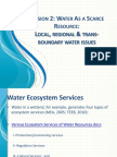 Session 2 Water - Regional and Transboundary Issue