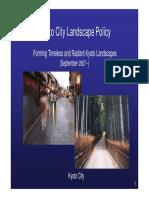 Kyoto Urban Landscape Policy