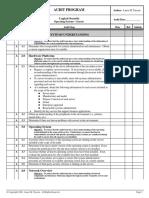 Audit Program - Logical Security