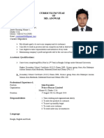 Resume of Anowar
