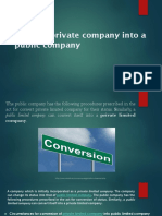 Convert Private Company Into a Public Company (1)