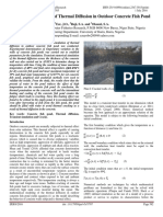 Numerical Simulation of Thermal Diffusion in Outdoor Concrete Fish Pond