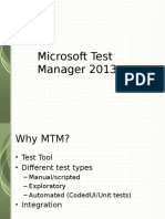 Test Case Management With MTM 2013