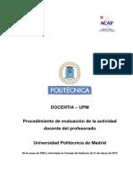 DOCENTIA - Procedimiento de Evaluacion UPM
