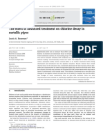 The Effect of Advanced Treatment on Chlorine Decay in Metallic Pipes
