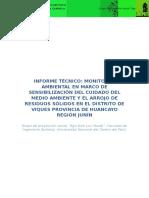 Informe Técnico del monitoreo ambiental en viques