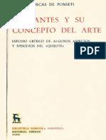 Percas de Ponseti Helena - Cervantes Y Su Concepto Del Arte - Tomo I