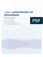 The Phenomenon of Glosollalia