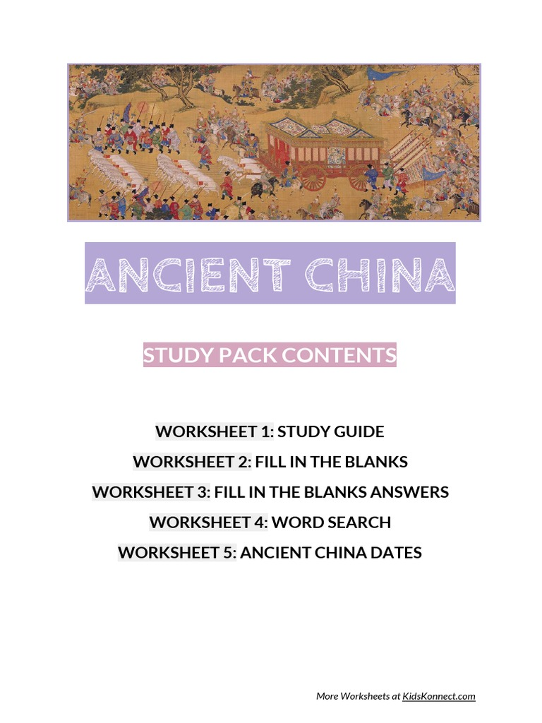 Worksheets Ancient China Worksheets ancient china study guide history of han chinese