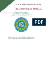 Shri Vaishnav Institute of Technology and Science Mc & Cnc Lab Manual