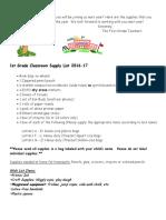 douglas 1st grade supply list 1617