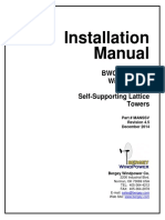 Excel 10 Self Supporting Lattice Tower Installation Manual