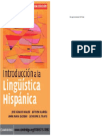 Introducción a La Lingüistica Hispánica