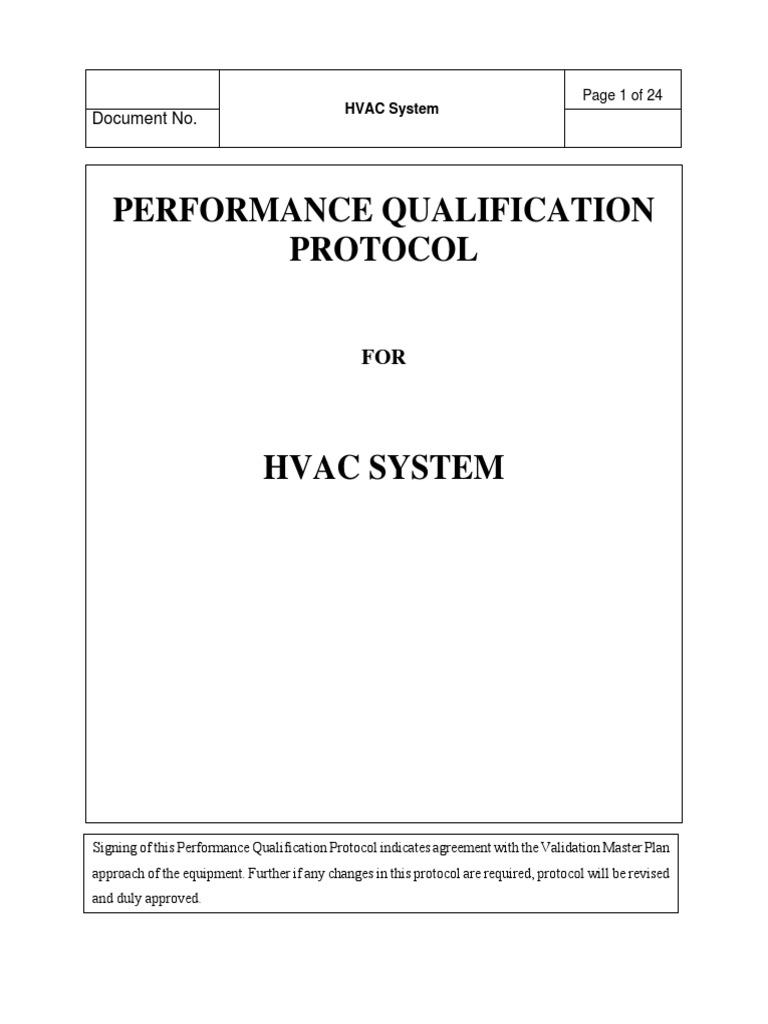 58939370 Hvac Pq Verification And Validation Hvac