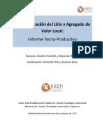 Ciecti Analisis Tecno Productivo de Cadena de Valor Del Litio