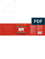 Marinara Package Label