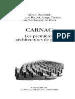 CARNAC Les Premieres Architectures de Pierre - Gerard Bailloud_ Christine Boujot_ Serge Cassen_ Charles-Tanguy Le Roux
