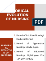 Historical Evolution of Nursing
