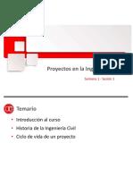 IIC- Semana 1 Los Proyectos en La Ingeniería Civil