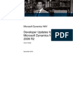 Developer Updates for Microsoft Dynamics NAV