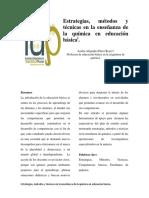Estrategias Metodos y Tecnicas Ensenanza Quimica Educacion Basica