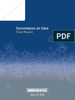 Report on Veteran Care by Commission on Care