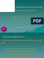 performance monitoring and evaluation