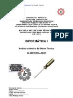 Análisis sistémico deObjeto Técnico de El Destornillador